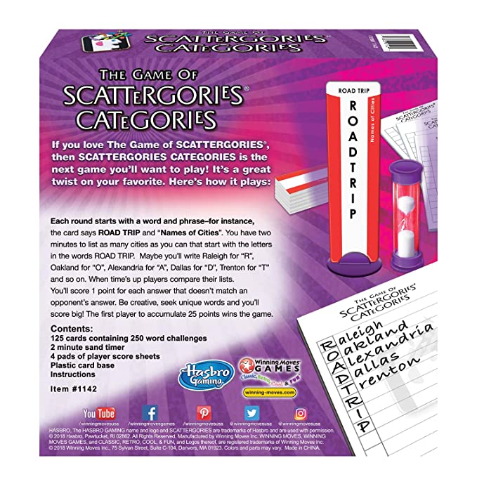 image about Scattergories Answer Sheets Printable referred to as Scattergories Classes - A Pleasurable Twist upon the Quick-Questioning Authentic - 2 or Extra Gamers - Ages 12 and Up
