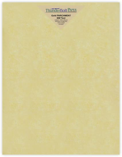 amazon com 50 gold parchment stationery 60lb text weight 8 5 x 11