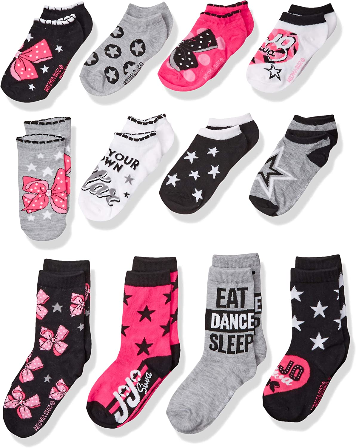 JoJo Siwa 12 Days Of Socks of CHRISTMAS Advent Box M Girls NICKELODEON