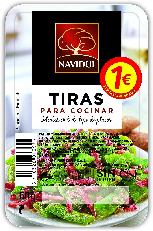 Navidul - Tiras de Jamón Curado, 60 gr: Amazon.es: Alimentación y bebidas