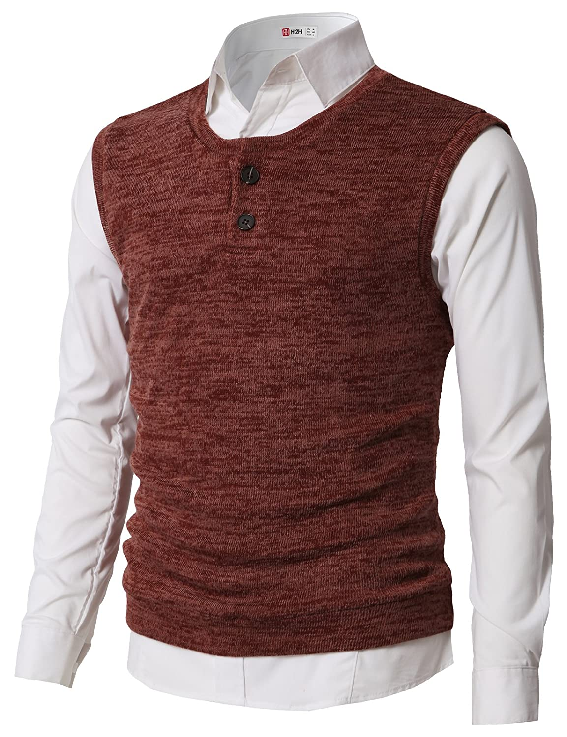 1193d8974 65% COTTON / 35% POLYESTER Designed by Korea. Pull On closure. Style No.  #CMOV043 - Super Soft & Stretch Basic Henley knit vest for dailywear  features ...