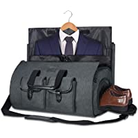 Carry-on Garment Bag Large Duffel Bag Suit Travel Bag Weekend Bag Flight Bag with Shoe Pouch for Men Women