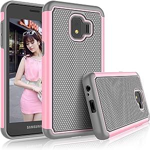 Galaxy J2 2018 2019 / J2 Core Case, Galaxy J2 Shine / J2 Dash / J2 Pure Case for Girls, Tekcoo [Tmajor] Shock Absorbing Rubber Plastic Bumper Cute Sturdy Hard Phone Cover for Samsung J260 [Baby Pink]