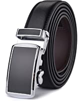 HW Zone Men's Soft Leather Belt - 35mm Wide Ratchet click Belt for dress