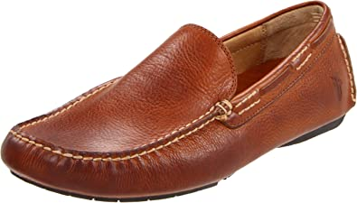 FRYE Brown Soft Leather Slip On Driving Loafers Mens Size 13 M