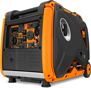 WEN DF400i Super Quiet 4000-Watt Dual Fuel RV-Ready Portable Inverter Generator, Black