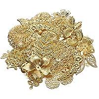50 g 100 g blandad metall blomma filigran wraps kontakter järnhantverk gör-det-själv guld silver grossist berlocker…