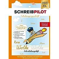 Schreibathlet: Cuaderno de caligrafía para proteger ABC con letras pregrabadas para aprender la escritura en la…