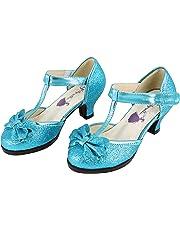 Glitzerella Girls Crystal Blue Heeled Dress Shoe