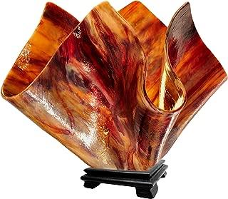 product image for Jezebel Signature VALA-FP16-BEG Flame Glass Vase Lamp, Large, Begonia