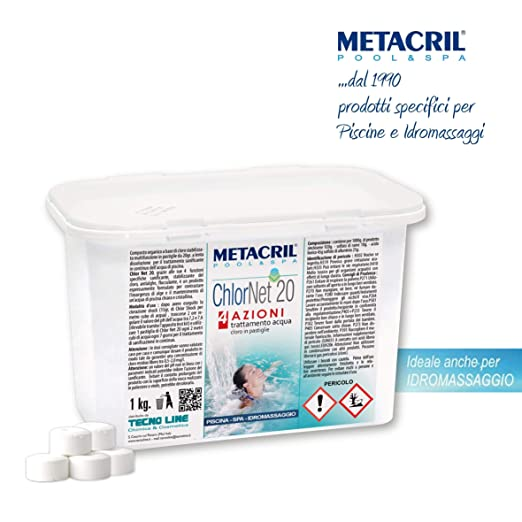 Metacril - Cloro Chlornet 20 (tricloro 90/20) en pastillas de 20 ...