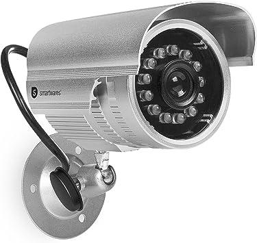 Smartwares Cdm 34551 Dummy Leuchtenden Infrarot Led S Bei Dunkelheit Für Den Außenbereich Kamera Attrappe Mit Metallgehäuse Für Außen Innen Baumarkt