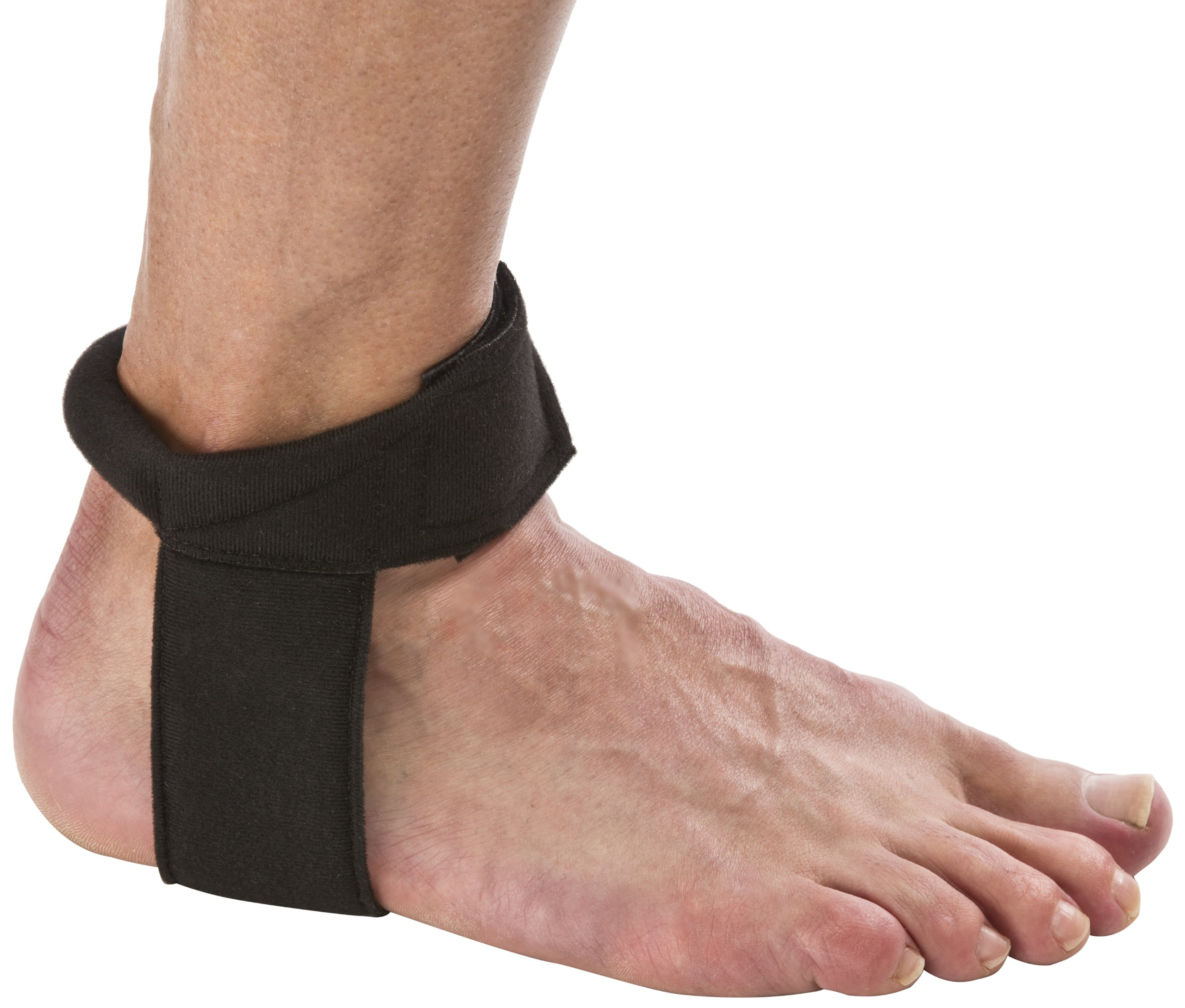 Cho-Pat Achilles Tendon Strap - Developed w/ Sports Medical Professionals at Mayo Clinic to Reduce Stress & Alleviate Achilles Tendonitis Pain - Black (Medium, 10.5''-11.5'')