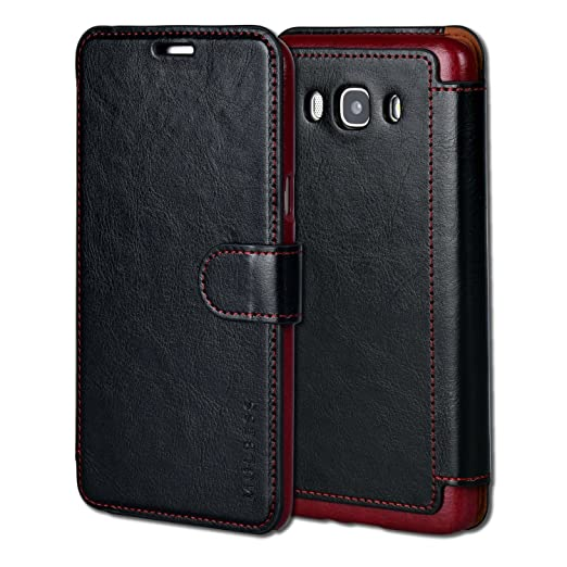 Funda Samsung Galaxy J7 2016, Mulbess Samsung Galaxy J7 2016 Wallet Case [Negro]: Amazon.es: Electrónica