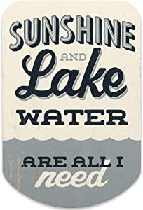 Open Road Brands Sunshine & Lake Water Wood Wall Decor for Lake House, Man Cave, or Living Room