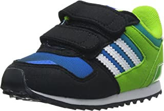 adidas Originals , Baskets pour garçon Noir/Blanc - Multicolore - Mehrfarbig (Black 1 / Running White FTW/Semi Solar Green) Baskets pour garçon Noir/Blanc - Multicolore - Mehrfarbig (Black 1 / Running White FTW/Semi Solar Green) M25250