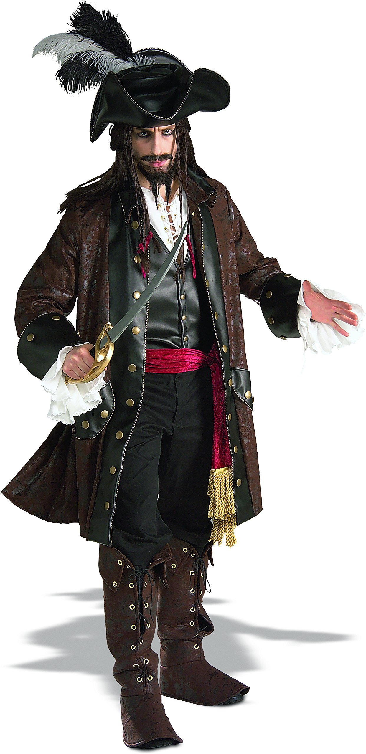Caribbean Pirate Adult Costume - X-Large
