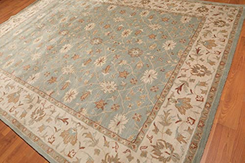Old Hand Made Bradley Floral Traditional Persian Oriental Woolen Area Rugs 9'x12'