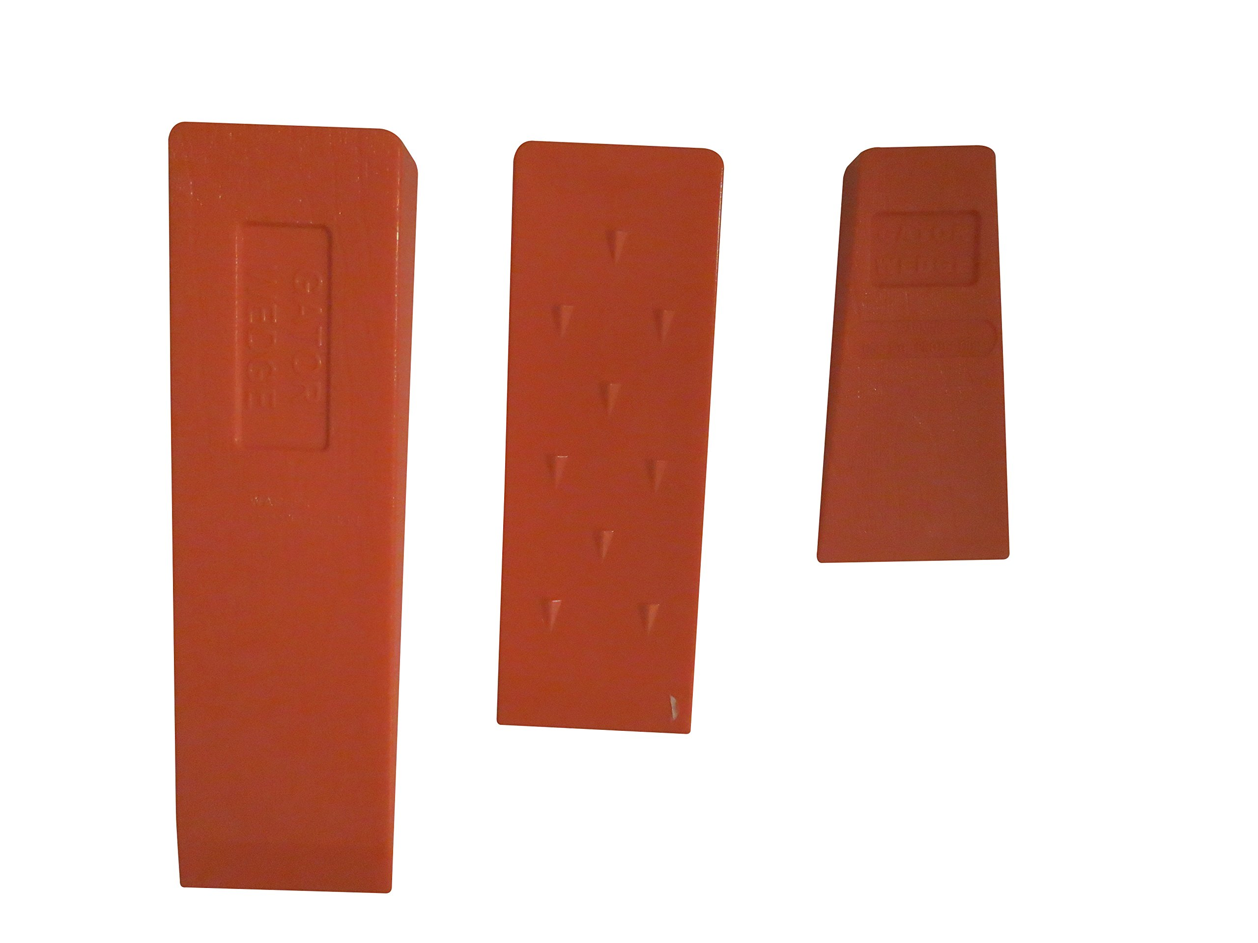 USA Made Gator Wedge Set Spiked Felling Wedges (Set of 3 Sizes) 5.5'' 8'' and 10'', ABS Plastic, Logging Supplies