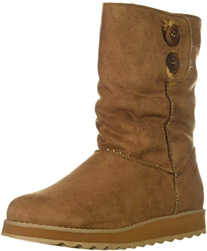 85bef50c316 Skechers Women's Keepsakes 2.0-Big Button Mid Slouch Boot with Microfiber  Upper Fashion