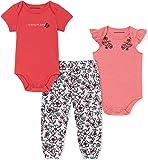 Calvin Klein Baby-Girls 3 Pieces Bodysuit Pants Set Pants Pants Set - Multi