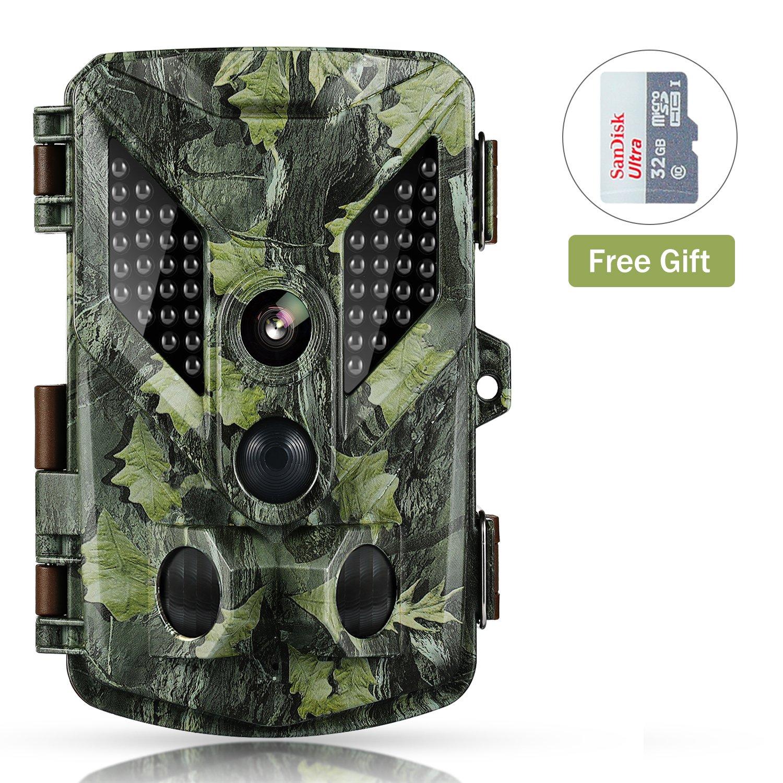 Abask Cámara de Caza, cámara de vigilancia Impermeable Búsqueda de observación Invisible a Prueba de Agua IR infrarrojo Vídeo de la Noche Digital 16MP 1080P HD 25m Gran Angular 120 ° Visión Nocturna