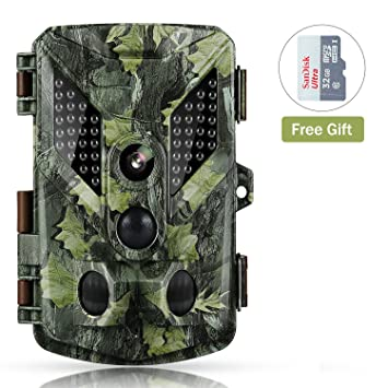 Abask Cámara de Caza, cámara de vigilancia Impermeable Búsqueda de observación Invisible a Prueba de