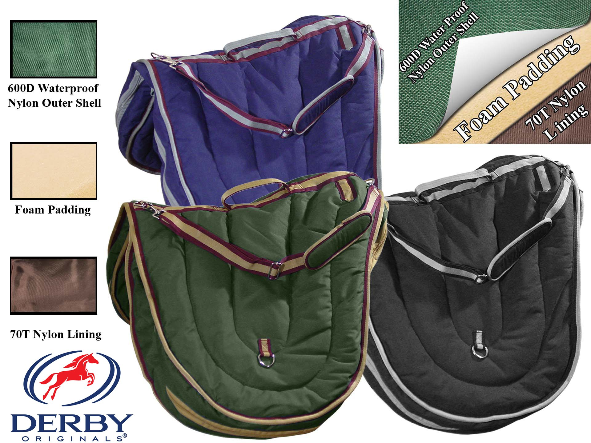 AP English Horse Riding Saddle Carry Bag Case 3 Layers Padded Nylon by Derby Originals at Wholesale Price by Derby Originals