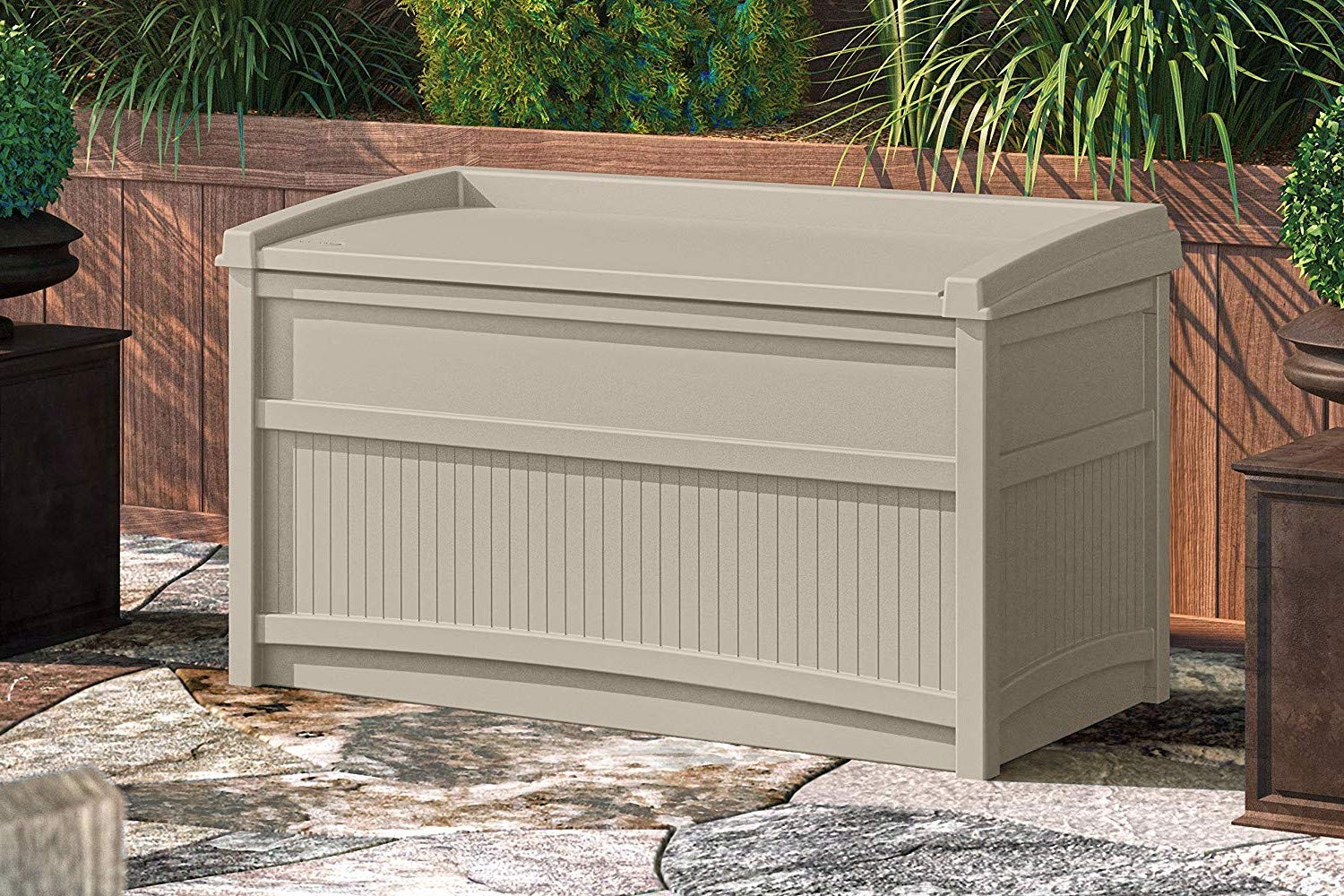 Patio Storage Cabinet Large 50 Gallon Storage Box Quality Waterproof Durable Coffee Table Sitting Bench for Indoor Outdoor Garden Backyard Home Container Furniture Weather Resistance & e-book by jnw