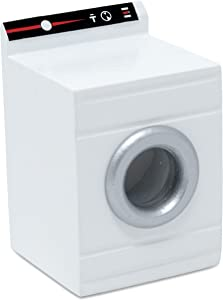 American Heritage Industries Dollhouse Washing Machine- Miniature Washing Machine for 1:12 Scale Doll House, Ideal Dollhouse Appliance, and Accessory, Perfect Mini Washer