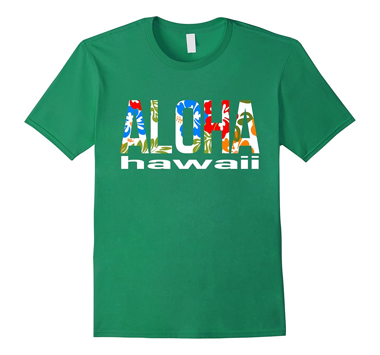 3a755db4 Aloha Hawaiian T-shirt Flowers Hawaii Funny Vacation Surf-PL – Polozatee