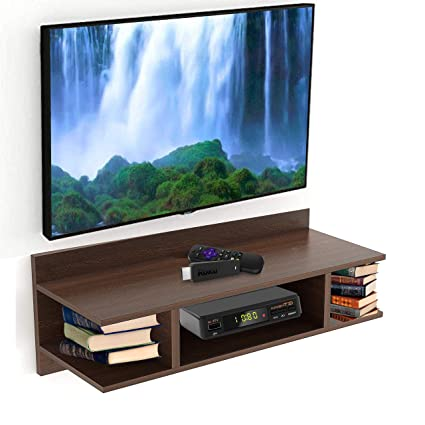 55e1a185258 Aart Store TV Wall Unit TV Entertainment Units Wall Mounted TV Set Top Box  Stand DVD Wall Shelf Display Unit  Amazon.in  Electronics