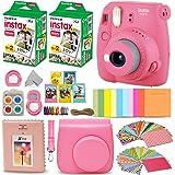 Fujifilm Instax Mini 9 Instant Camera FLAMINGO PINK + Fuji INSTAX Film (40 Sheets) + Accessories Kit Bundle + Custom…