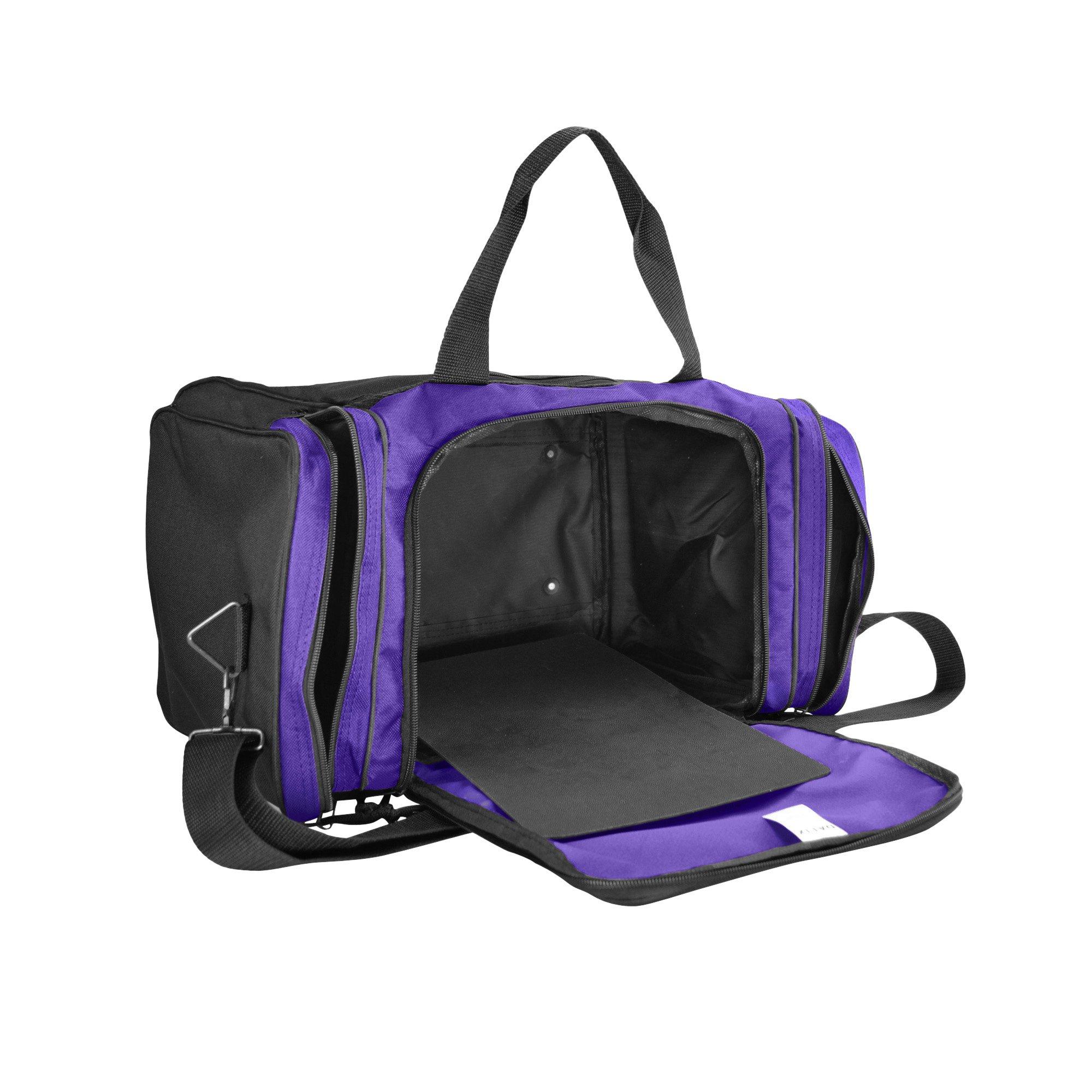 bc535b1aa882 Blank Duffle Bag Duffel Bag in Black and Purple Gym Bag - DF-005 ...