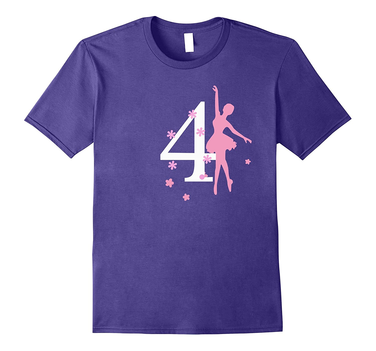 4 Birthday Ballerina Birthday T-shirt-CD