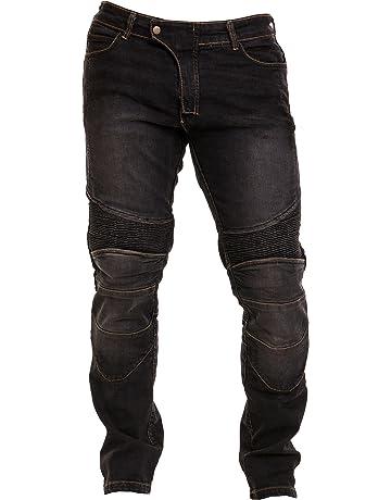 7128cccfff8697 Qaswa Uomo Moto Biker Jeans Protezione Motorcycle Pantaloni Rinforzato Slim  Fit Armature Pants