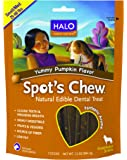 Halo Spot's Chew Holistic Dog Dental Treats, Yummy Pumpkin, 7.2 OZ of Dental Chews for Medium and Small Dogs, 7 Sticks of Natural Dog Treats