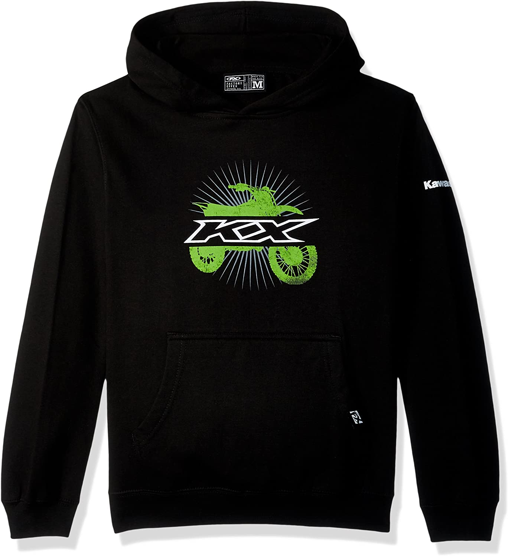 Black, Small 12 Factory Effex Youth Hooded Sweatshirt