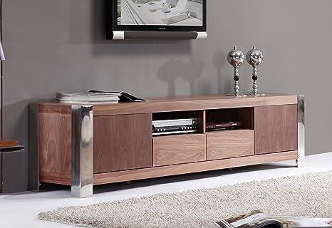 Amazon Com B Modern Composer 79 Walnut Tv Stand Bm 100 Brn Home