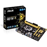 ASUS H81M-K Micro-ATX H81 Motherboard Intel LGA1150 4th Generation, USB 3.0