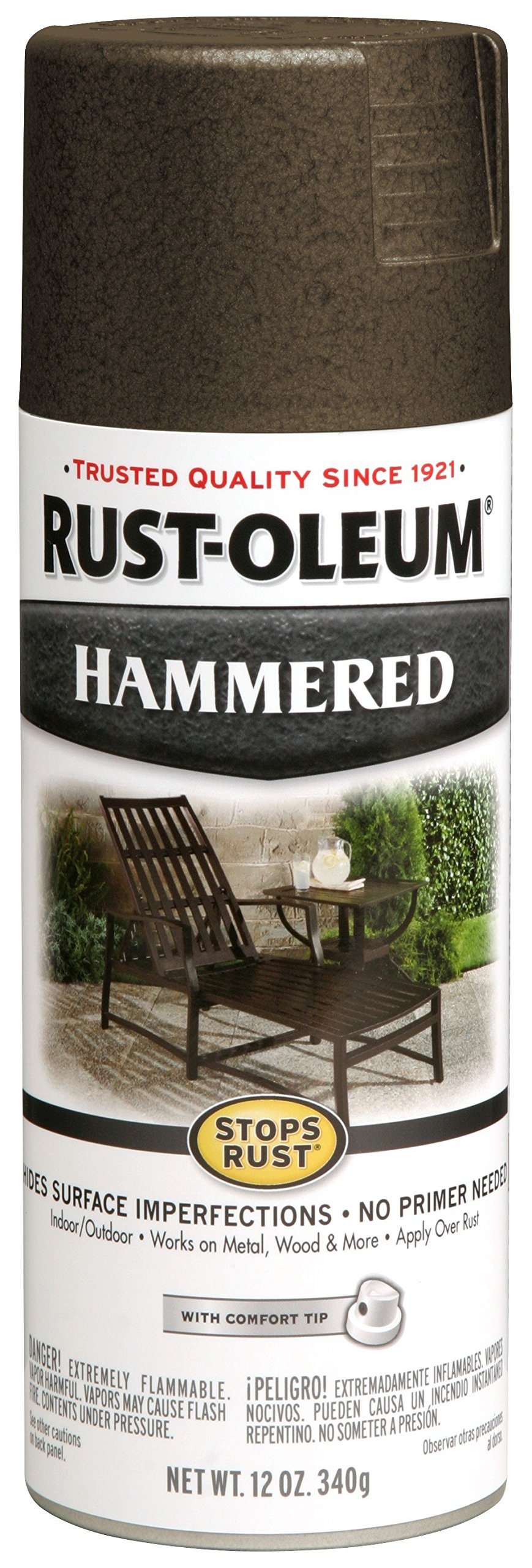Rust-Oleum 7218830-6 PK Stops Hammered Finish Spray Paint, 6 Pack, Dark Bronze