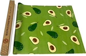 UGOS Organic Beeswax Food Wraps Roll - Reusable Bees Wax Paper Wrap (Green Avocado)