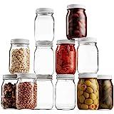 Glass Mason Jar 16 Ounce (1 Pint) - 12 Pack - Regular Mouth, Metal Airtight Lid, USDA Approved, Pickling, Preserving, Jam, Ho