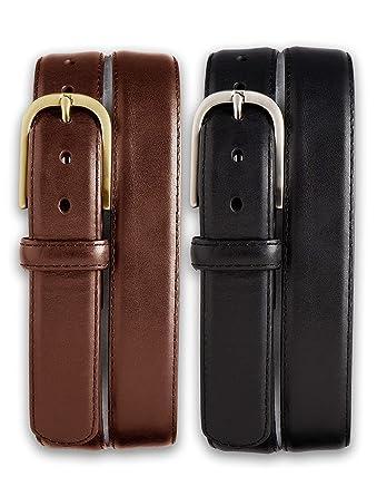 a8b35e38a6f Harbor Bay by DXL Big and Tall 2-for-1 Leather Dress Belt at Amazon Men s  Clothing store  Apparel Belts