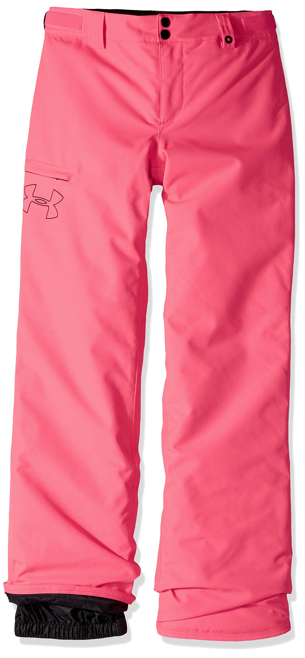 Under Armour Outerwear Youth Girls Cold Gear Infrared Chutes Insulated Pants, Penta Pink/Black, X-Large