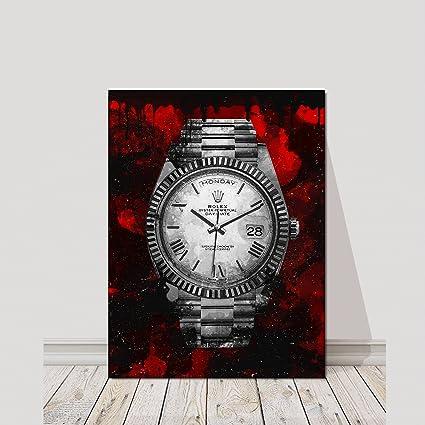 Amazon rolex watch canvas print office wall decor modern art rolex watch canvas print office wall decor modern art pop culture decoration inspiration clock timer prints publicscrutiny Images