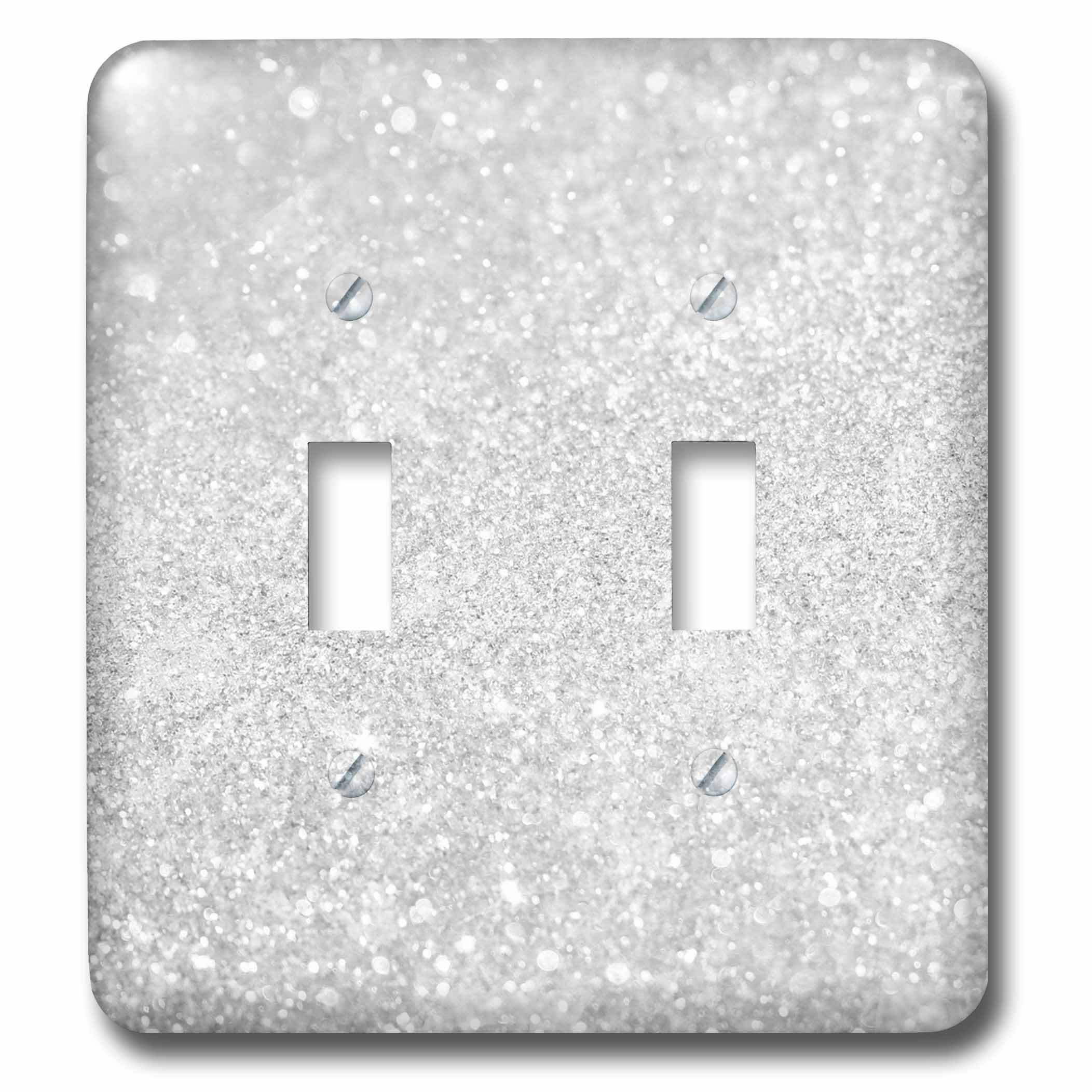 3dRose lsp_252114_2 2 Image of Silver Sparkly Style in Luxury-Double Toggle Switch