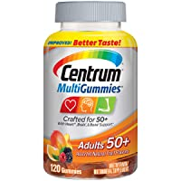 Centrum Multigummies Adults 50+ (120 Count, Assorted Natural Fruit Flavors) Gluten-Free...