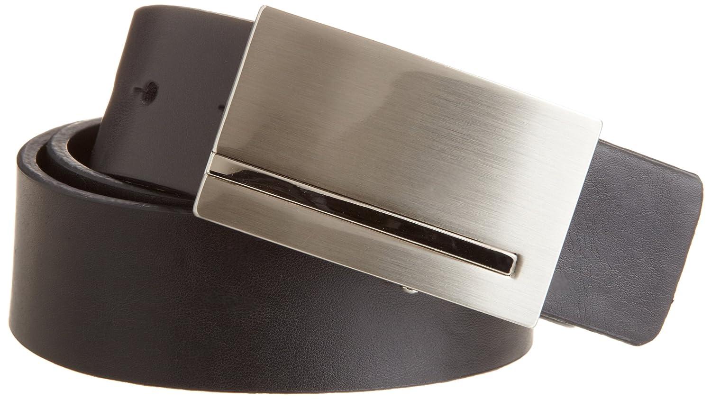 Reward Men's Reversible Brushed Nickle Plaque Buckle Belt Randa Accessories 11PL0153
