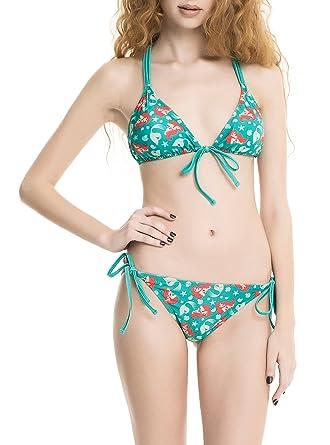747b43a562 Amazon.com: Little Mermaid Princess Ariel Fishnet Shell Bikini Top  (X-LARGE): Clothing